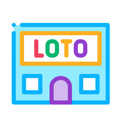 lotto house icon outline vector image