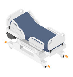 mobile hospital medical bed isometric view vector image