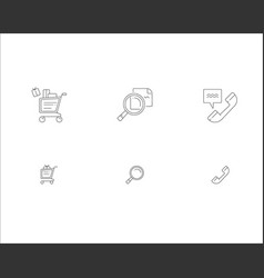 modern online shopping icons online shop vector image
