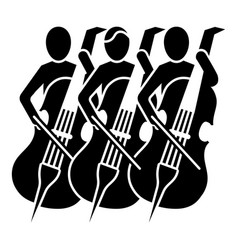 Musician orchestra icon simple style vector