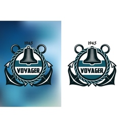 Nautical voyager banner vector