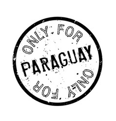 Only for paraguay rubber stamp vector