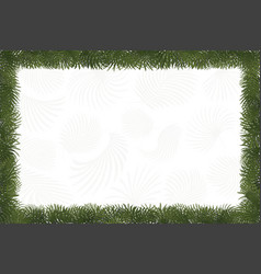 paper art natural style border frame tropical vector image