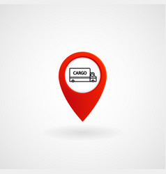 red location icon for cargo eps file vector image