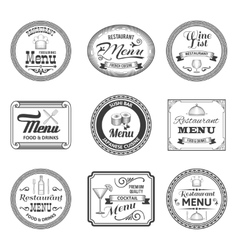 Retro Menu Labels vector image