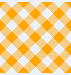 Saffron and white tartan plaid seamless pattern vector