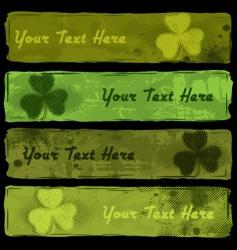 Saint Patrick's Banners vector