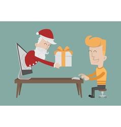Santa Claus gift boxes vector
