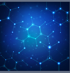 science background with polygonal elements vector image
