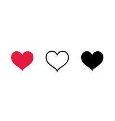 Set hearts three 4 vector