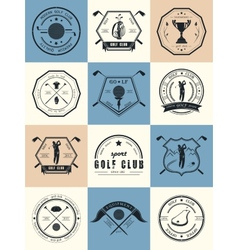 set logos and icons golf clubs vector image