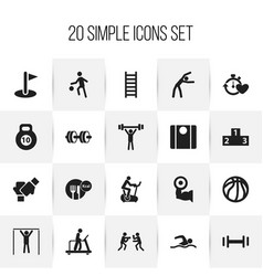 Set of 20 editable lifestyle icons includes vector