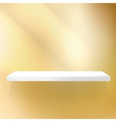 Shelf gold for exhibition vector