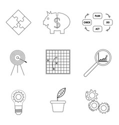 strategy and business success lined icon vector image