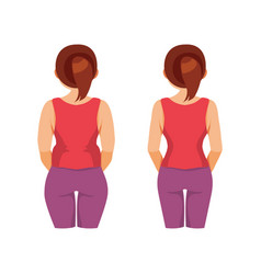 thick and slender women vector image