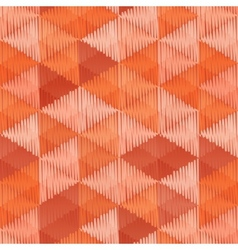 Vintage colors triangles textile seamless pattern vector image