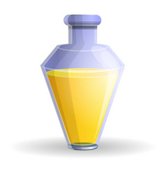 Yellow potion icon cartoon style vector