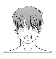 young guy anime boy character manga vector image