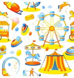 Amusement park seamless pattern vector image