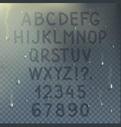 hand drawn transparent alphabet composition vector image