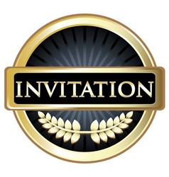 Invitation Label vector image vector image