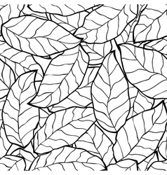 seamless abstract black autumn leaves background vector image