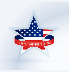 star with american flag 4th of july design vector image vector image