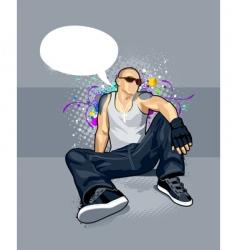 cartoon man vector image vector image