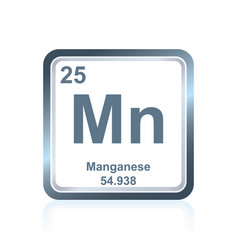 Chemical element manganese from the periodic table vector