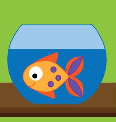 fish in aquarium for kids and vector image