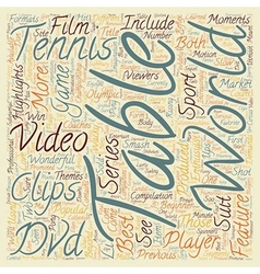 Love those table tennis dvds text background vector