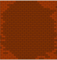 abstract brick wall textured red color vector image