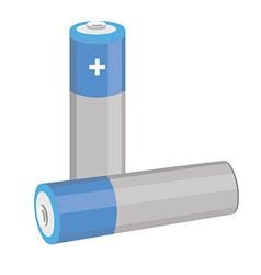 Blue batteries vector image
