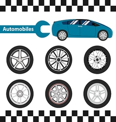 car wheel 01 01 vector image vector image