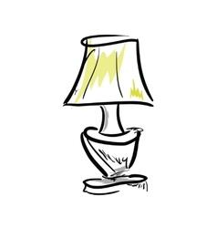 Cartoon lamp on white background vector image