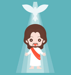 jesus christ with holy spirit vector image vector image