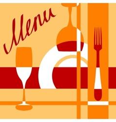 Bar or cafe menu cover background vector image