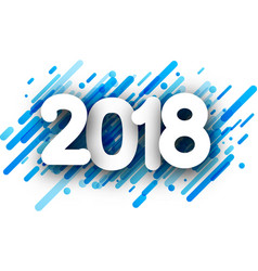 blue 2018 new year background vector image