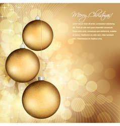 golden christmas design vector image vector image