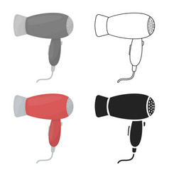 Hair dryer icon in cartoon style isolated on white vector