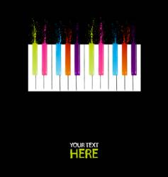 spectrum piano keys vector image