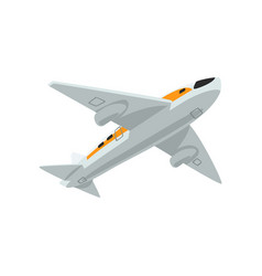 airplane flying aircraft on a vector image