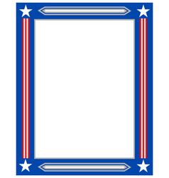 american flag decorative border frame vector image