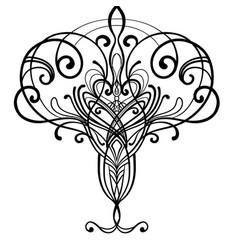 Art nouveau inspired decorative design element vector