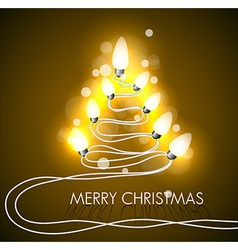 background with christmas tree and lights vector image
