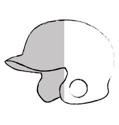 Baseball helmet isolated icon vector