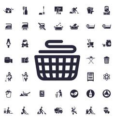 Basket laundry icon vector