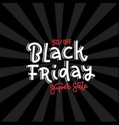 black friday super sale square banner design vector image