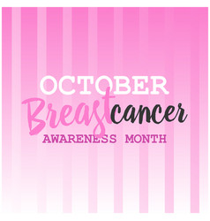 Breast cancer awareness ads poster vector