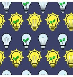 Bulb design over pattern background vector image